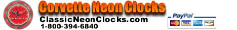 Neon Corvette Clock